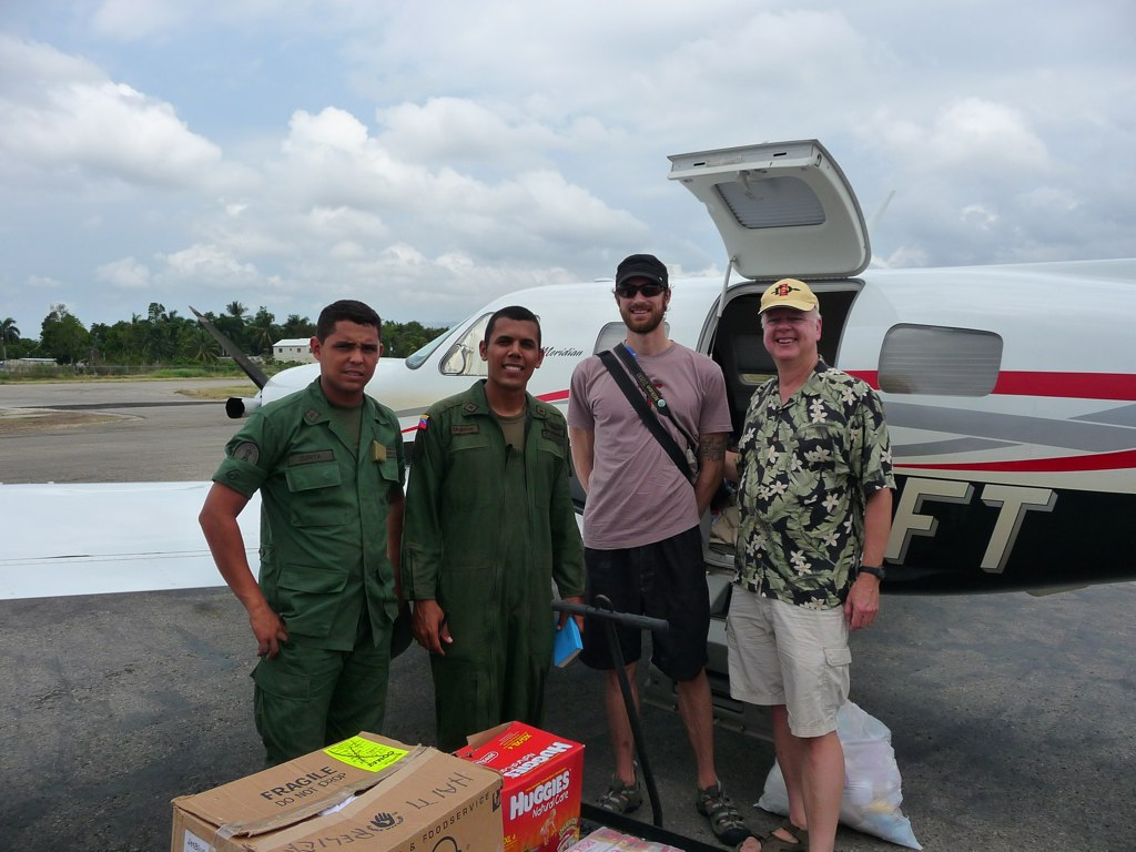 Venuzuelan Officers with Rick and Rich at Jacmel airport