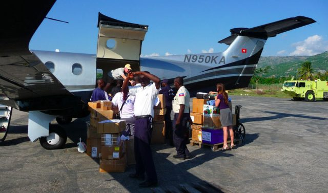 haiti relief supplies jacmel pilatus pc-12