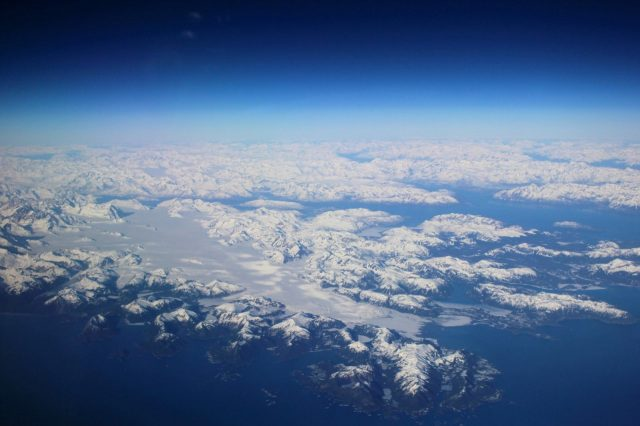 Along the British Columbia Coast at FL430