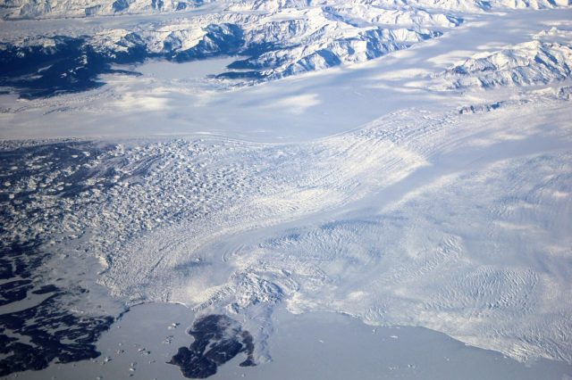 Closeup of Malaspina Glacier