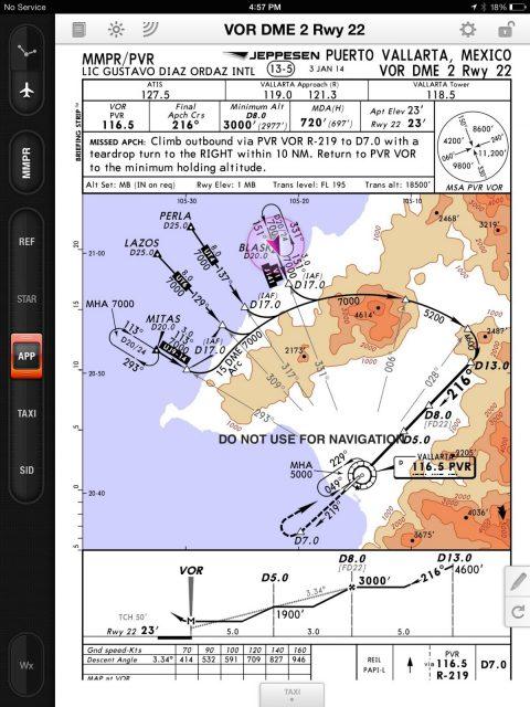 Puerto Vallarta VOR DME Approach