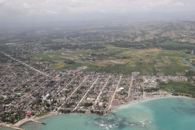 Aerial view of Les Cayes