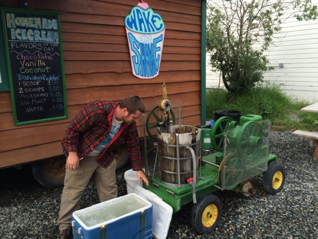 Homemade Ice Cream at Wake and Shake - Talkeetna