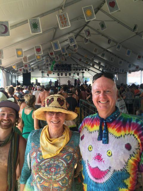 Jane, Rich and a friend at Vaudeville Tent