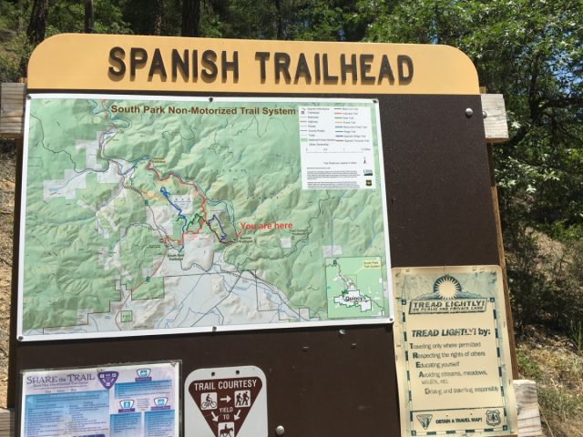 Spanish Creek Trailhead - South Park Trail System