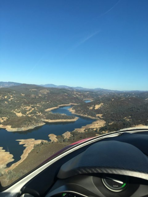 Flying along the Putah Creek