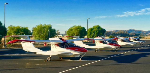 Gaggle of ICON A5s Early Morning at KVCB