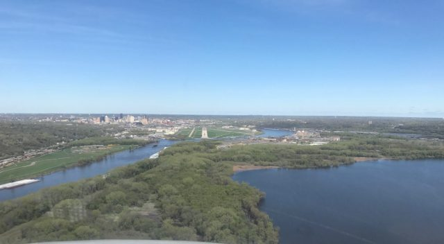 External view of the approach into Madison - KMSN.