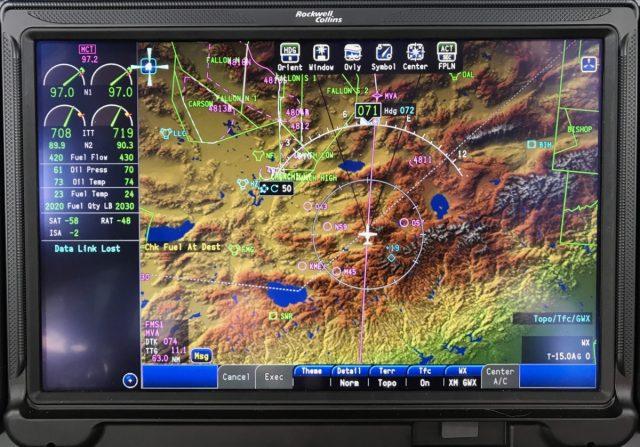 CJ3 Fusion Pilot Cursor - MFD Home Position