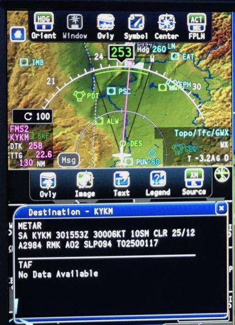 CJ3 Fusion   Splitting PFD Display - Text - METAR TAF