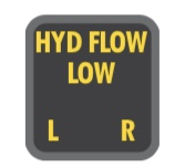 Low Hydraulic Flow Annunciator