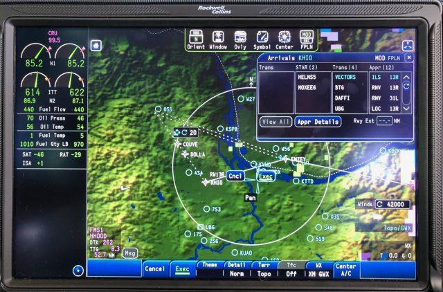 CJ3 Low Oil Pressure Right Engine - Loading HIO Approach