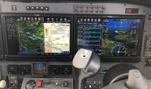 CJ3 - Right Engine Shutdown - MFD and PFD