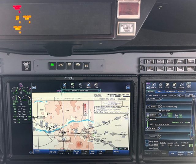 CJ3 - Right Engine Shutdown - MFD and PFD FMS