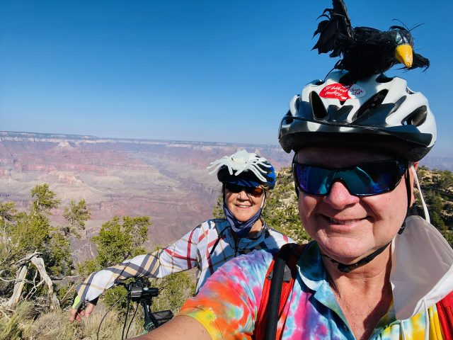 Jane Rich and Fred on the South Rim Grand Canyon